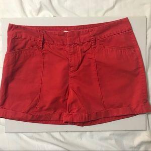 LOFT Red Shorts